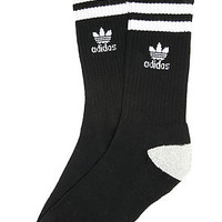 The Roller Crew Sock in Black, White And Heather