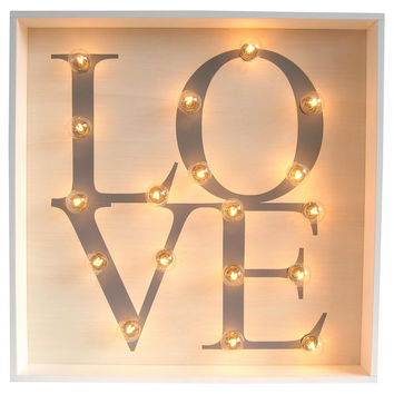 """Marquee Light-Up """"Love"""" Sign, Signs"""