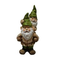Two Gnomes Playing Garden Statue