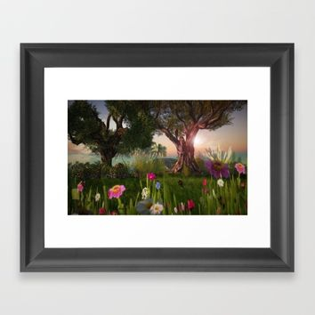 Multitude of Color Framed Art Print by Bella Luna Arts