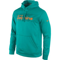 Miami Dolphins Nike KO Speed Wordmark Performance Hoodie - Aqua