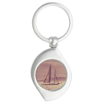 Sailing Across The Golden Sea Keychain