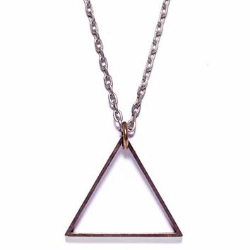Triangle Necklace - Oxidized
