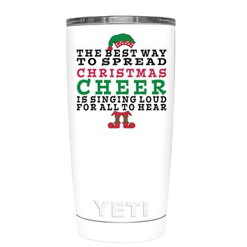 YETI The Best Way to Spread Christmas Cheer on White 20 oz Tumbler Cup