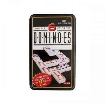 ONETOW Double 6 Color Dot Dominoes Game Set