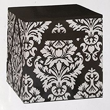 System Build Cube Storage Fabric Drawer Damask Pattern