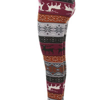 *Little 512*  Reindeer Leggings