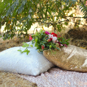 Sequin Pillow Covers | Gold Sequin Pillow Cover | Wedding Pillows