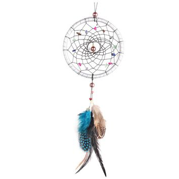 Car Ornaments Pendant Dreamcatcher Feather Car-styling Craft Gift Home Decoration Automobile Rear View Mirror Charms Accessories