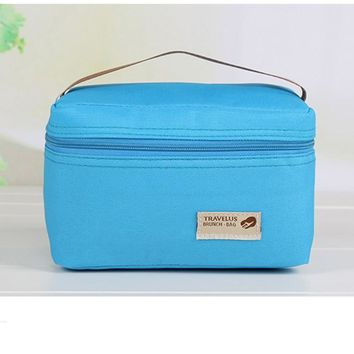 Practical Small Portable Ice Bags 4 Color Waterproof Nylon Cooler Bag Thermos Lunch box Picnic Packet Bento Box Food Thermal Bag