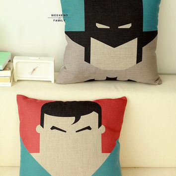 Batman Superman cushion, Ready to use, Creative, Cozy, Modern Home Decor, Pillow , wedding gift
