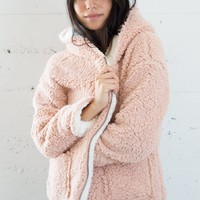 Ella Teddy Jacket - Pink