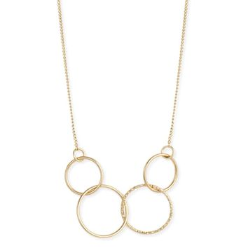 Golden Rings Links Circles Necklace