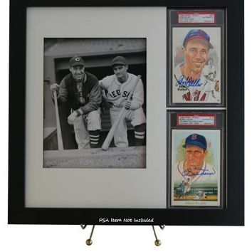 PSA/DNA Perez-Steele (2) Postcard Framed Display with 8x10 Photo Opening (Combo)