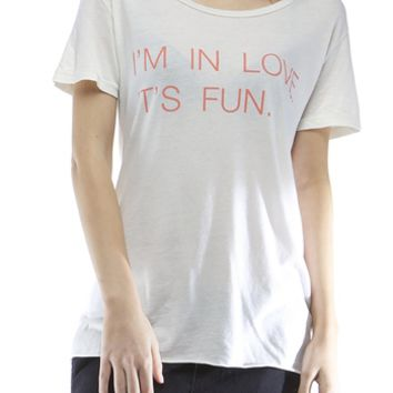 Good Hyouman I'm in Love it's Fun Tee - Cloud