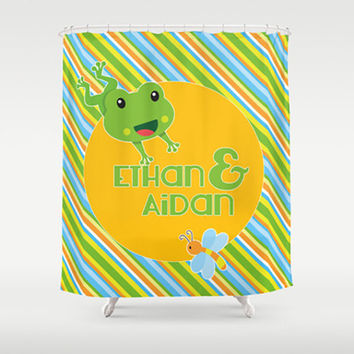 Happy Frog Personalized Shower Curtain