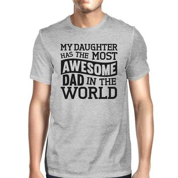 The Most Awesome Dad Men's Grey Short Sleeve Top
