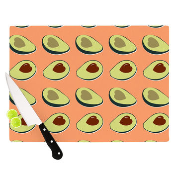 "KESS Original ""Avacado Love"" Green Food Cutting Board"