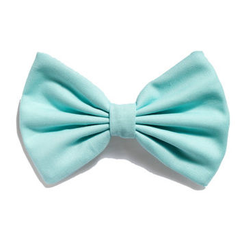 Baby Blue Colored Hair Bow