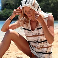 Women Summer Hollow Out Sexy Bikini Cover Ups Crochet
