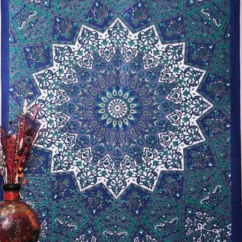210*145 Indian Tapestry Multiple uses Wall Hanging Blanket Camping Mattress Tablecloth Sleeping Pad Beach towel Sunscreen shawl