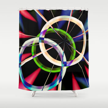 circles Shower Curtain by Haroulita