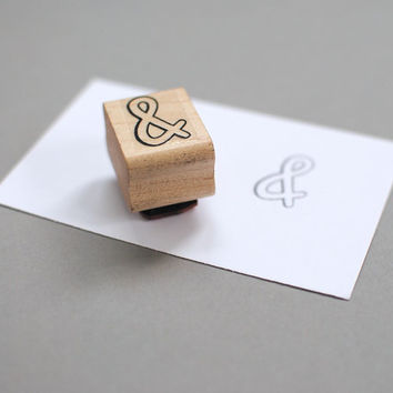 Rubber Stamp // Ampersand (0.75x1)