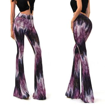 Purple Tye Dye Flares