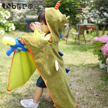 WBTRO Children Kids One Piece Swimwear Bathing Spa Beach Pool Hot-spring Baby Cute Strong Water Absorption Towel Accessory