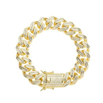 18mm Iced Cuban Link Bracelet