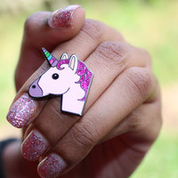 Unicorn Emoji Pin – Unicorn Enamel Pin For Your Life