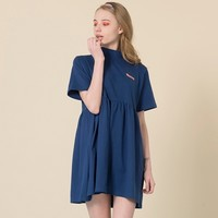 HIDE AND SEEKYUMMY Patch High Neck Dress | mixxmix