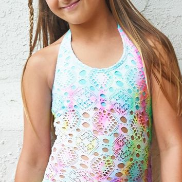 Pilyq Girls Rainbow Lace One Piece RAL-610P