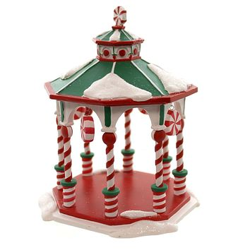 Dept 56 Accessories PEPPERMINT GAZEBO Polyresin Christmas Peppermint 4047579