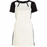 Black and white zip trim shift dress - shift dresses - dresses - women