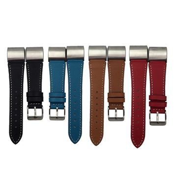 Good Sale Replacement Luxury Genuine Leather Band Strap Bracelet For Fitbit Charge 2 Oct 7