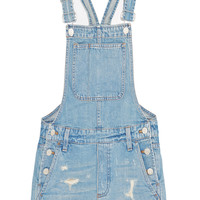 Madewell - Distressed denim overalls