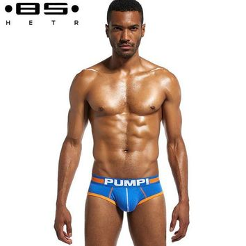 DCCK7G2 4 Pcs/lot BSHETR Brand  Cotton Underwear Men Sexy Briefs Gay Underpants  Fashion Cueca briefs Silp Male Panties Free Shipping