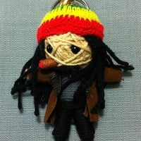 Rasta Jamaica Reggae Keyring Keychain Music Boho Key Ring Chain hippie Handmade Funny Bag Car String Doll Bag Backpack Deco Rock Hip Funky