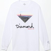 Diamond Supply Co Cityscape Long Sleeve T-Shirt - Mens Tee - White