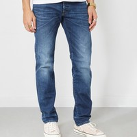 Edwin ED-55 Regular Tapered Jeans Contrast Clean Blue