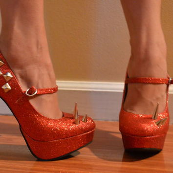 Red Wizard of Oz Spiked Shoes
