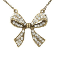 LOVEsick Bling Bow Necklace