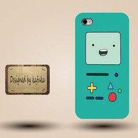 iphone case, i phone 4 4s 5 case,cool cute iphone4 iphone4s  5 case,stylish plastic rubber cases cover,green Adventure time Beemo bmo p1058