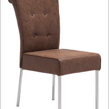 Zuo Ringo Dining Chair Distressed Brown 100103