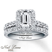 Neil Lane Bridal Set 2 1/2 ct tw Diamonds 14K White Gold