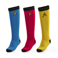Star Trek OS 3-pack Ladies' Knee High Socks