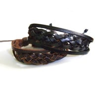 Lights in the Sky Braided Leather Bracelet