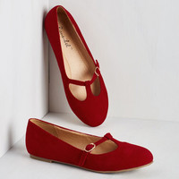 Vintage Inspired On a Stroll Now Flat in Ruby