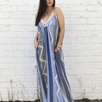 Ocean Blues Maxi Dress
